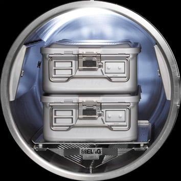 Cliniclave 45 Beladungsbeispiel: Zwei Container