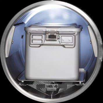 Clinikclave 45 Beladungsbeispiel: Ein Container